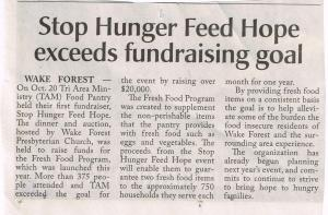 Stop Hunger Feed Hope