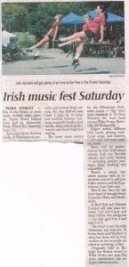 TAM and the Irish Music Festival